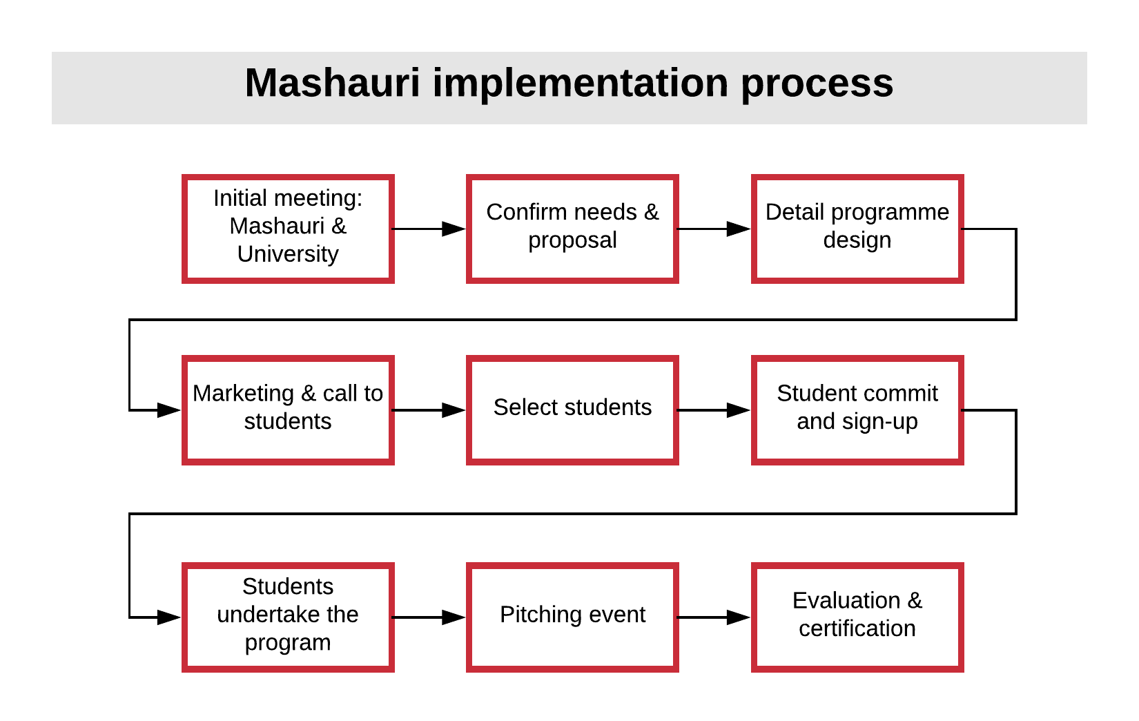 Mashauri implementation process
