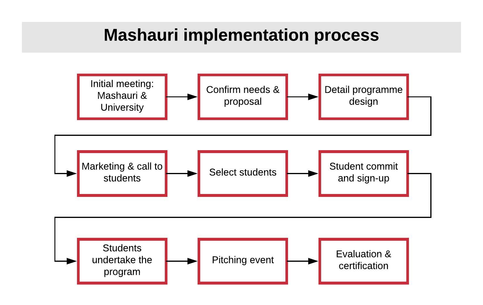 Mashauri implementation process