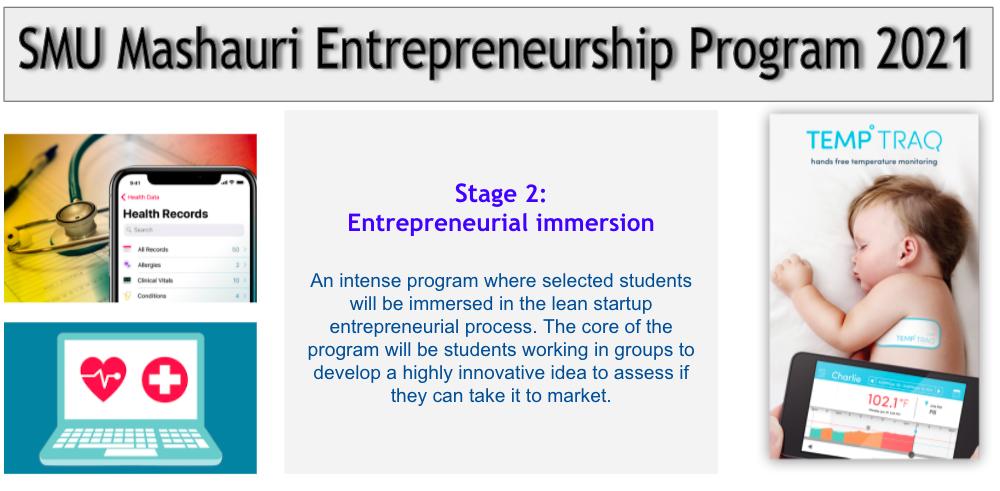 SMU Mashauri Entrepreneurship Program Stage 2: Entrepreneurial Immersion